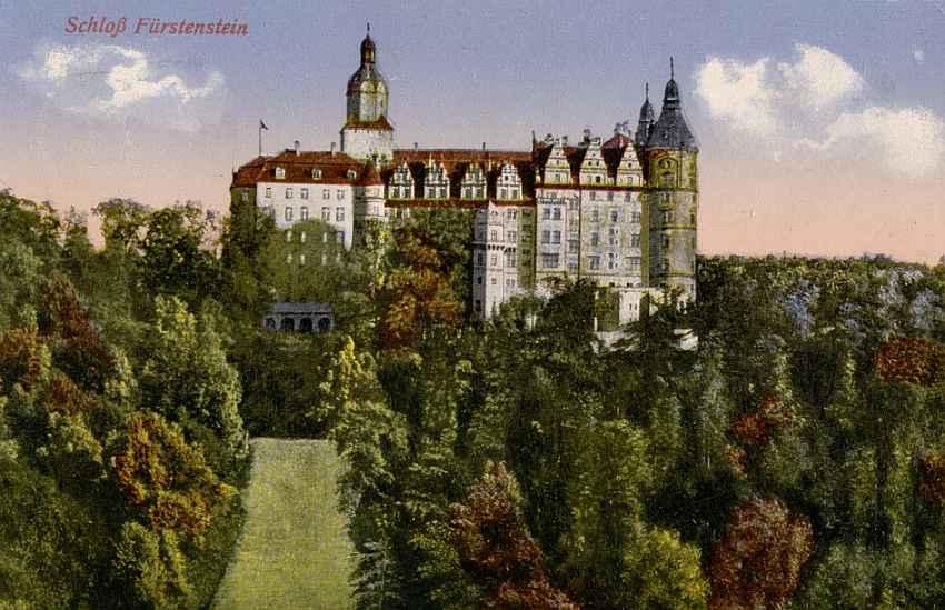 Zamek Książ widok od północy