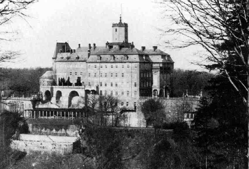 Zamek Książ strona południowa