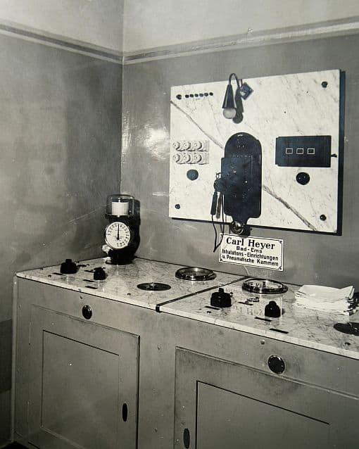 Fot 15. Pulpit sterowania komorami pneumatycznymi Fot. HEYER Medical AG