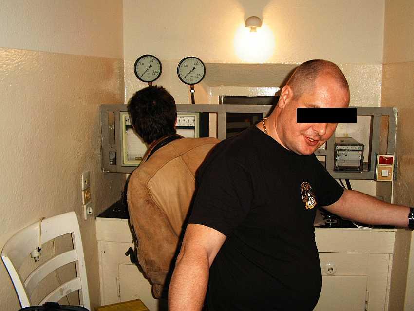 Fot 17. Pokój kontrolny komory pneumatycznej Szczawno-Zdrój Fot. T. Jurek