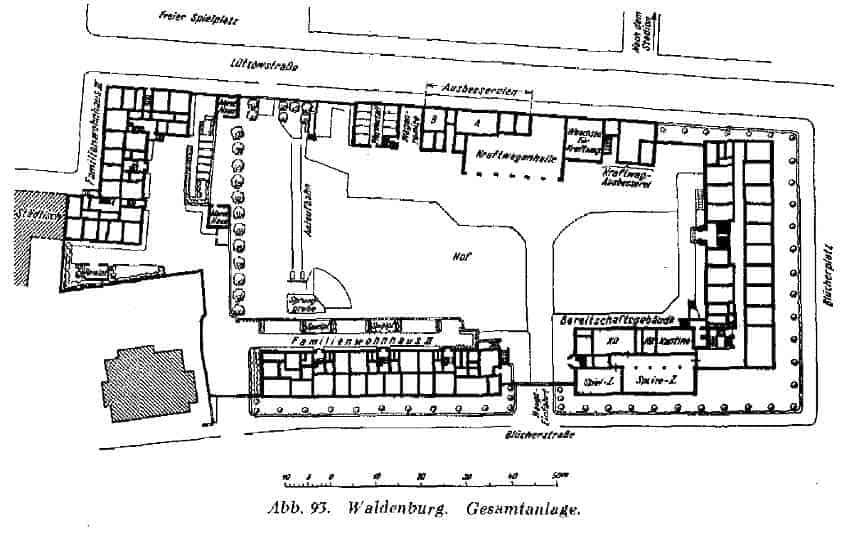Zdj.5 Schutzpolizei Waldenburg rzut poziomy. ZFB