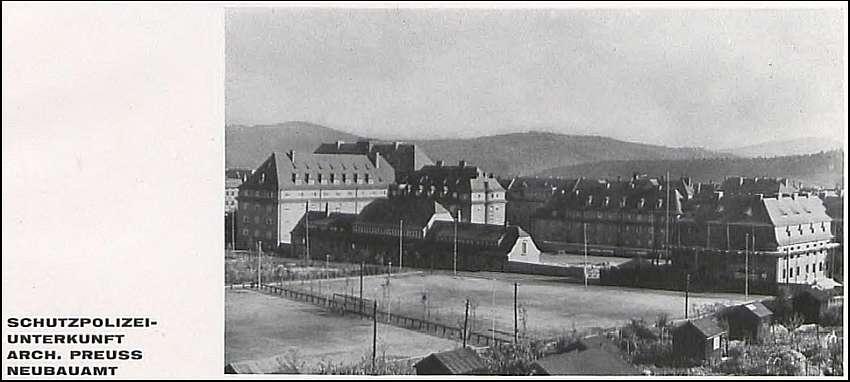 Zdj.1 Schutzpolizei Waldenburg architekt. ZFB Januar/Februar 1928