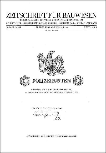 Zdj.2 Schutzpolizei decyzje budowlane dokument. ZFB