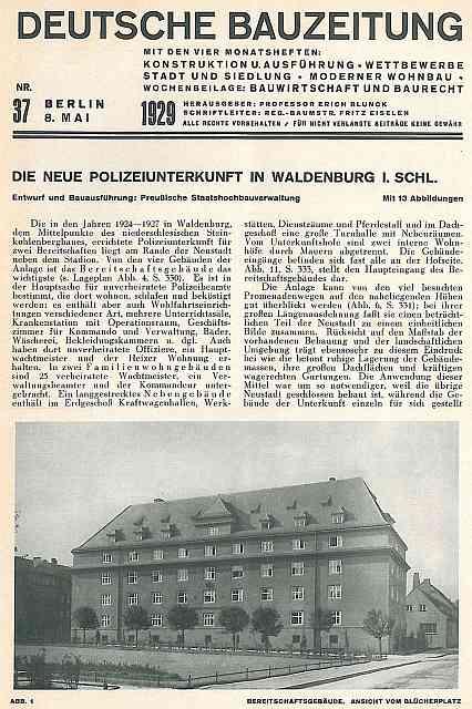 Zdj.6 Schutzpolizei Waldenburg. Foto DB 37/1929 polska-org.pl