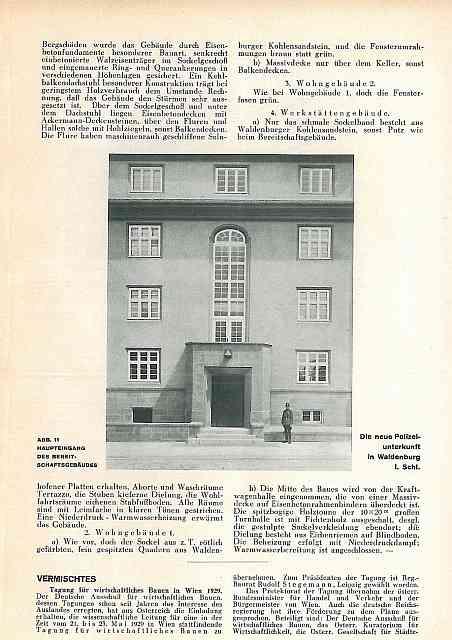 Zdj.9 Schutzpolizei Waldenburg. Foto DB 37 1929 polska-org.pl