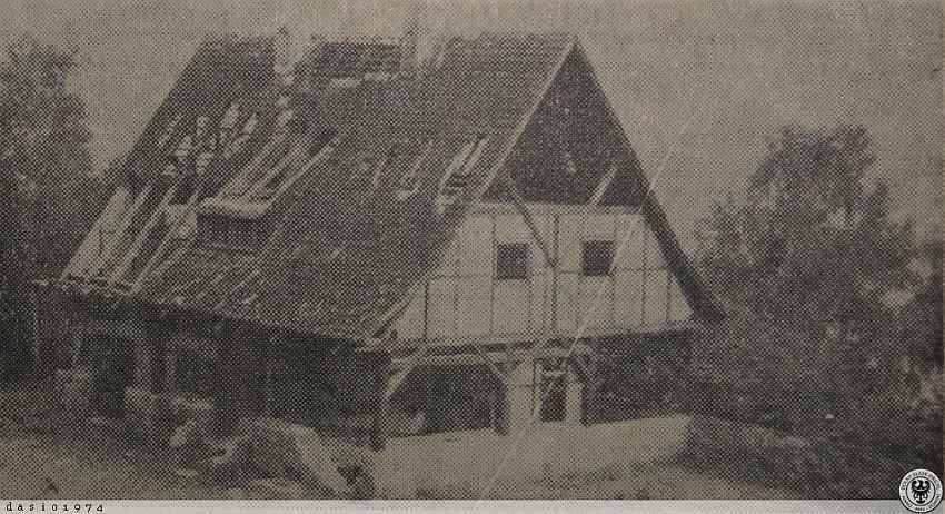 Zdj.12 Strzelnica Schutzpolizei Waldenburg. Stan 1958 rok. polska-org.pl.