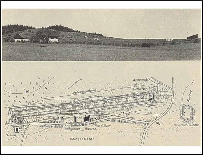 Zdj.9 Strzelnica Schutzpolizei Waldenburg widok i plan