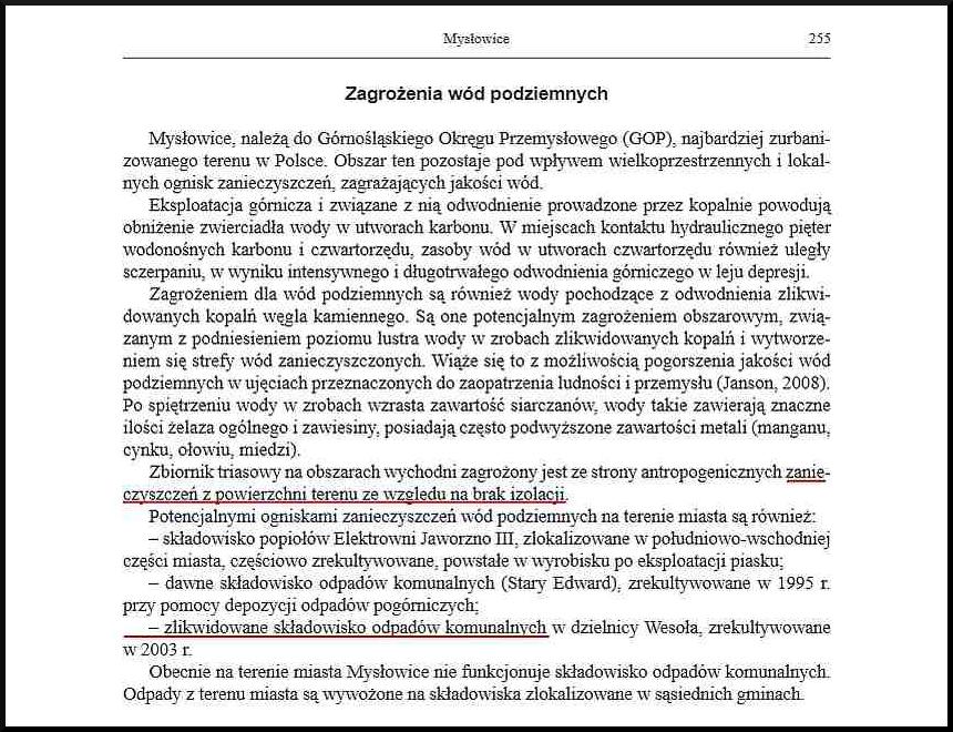 Zdj. 2 Zagrożenia wód podziemnych. PGI