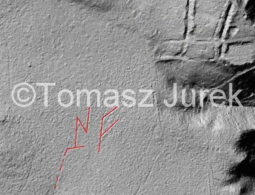 Zdj.2 Błyskawica koło Książa analiza. Geoportal