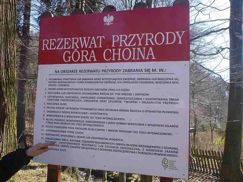 Zdj.10 Regulamin Rezerwatu Góra Chojna Zdj. Tomasz Jurek