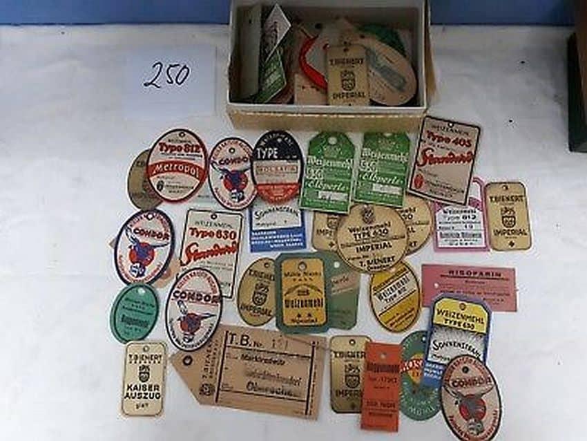 Fot 3. fot. www.ebay.de Konv 100 Alte Mehl Etiketten