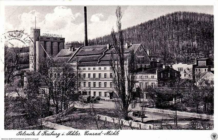 Fot 9. Młyn Conrada Świebodzice lata 30-te fot. www. polska-org.pl