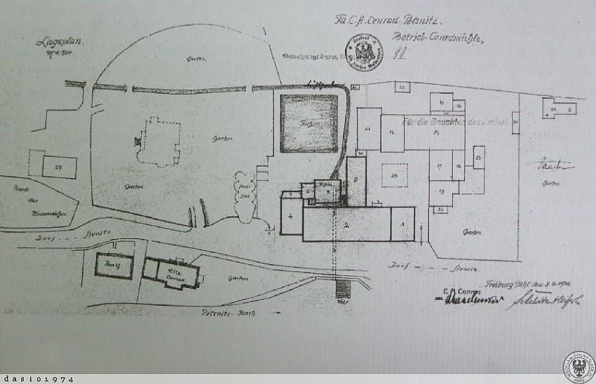 Fot 8. Plan zbudowy młyn Conrada Świebodzice lata 30-te fot. www. polska-org.pl
